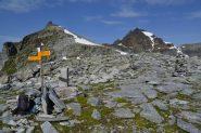 segnaletica svizzera al Passo di Boccareccio (2764 m)