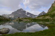 Leone e Terrarossa specchiati nel Lago Bianco