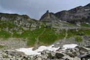 il percorso per il Passo di Boccareccio a sinistra della Torre Vitali