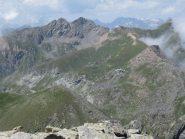 panorama verso l'Orsiera e il sentiero di avvicinamento all'itinerario di salita