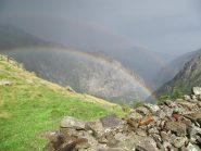 doppio arcobaleno dopo forte temporale il 3 agosto