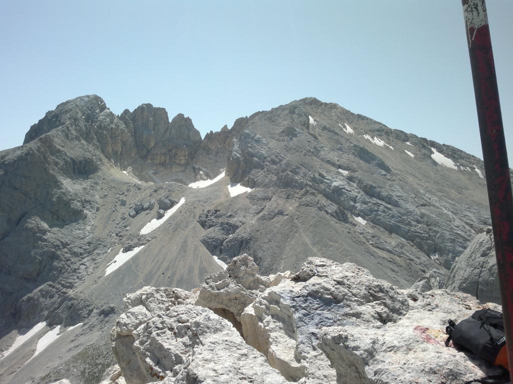 Corno Grande - Vetta Occidentale dai Prati di Tivo per il Rifugio Franchetti 2013-08-05