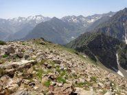 Dalla cima Lausetto verso il colle della Vagliotta