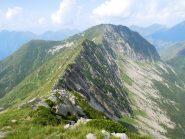 Cresta Pizzo Stagno-Pizzo Diosi vista dalla cima dello Stagno