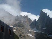 ghiacciaio del freney e le sue vette