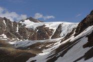 uno scorcio verso il ghiacciaio sotto il san matteo