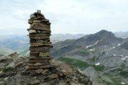 il grande ometto di pietre della vetta (7-8-2013)