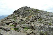 ultimi metri di cresta e la vetta della Tete de Pelouse (7-8-2013)