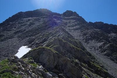 versante nord dove si è discesi al lago checrout