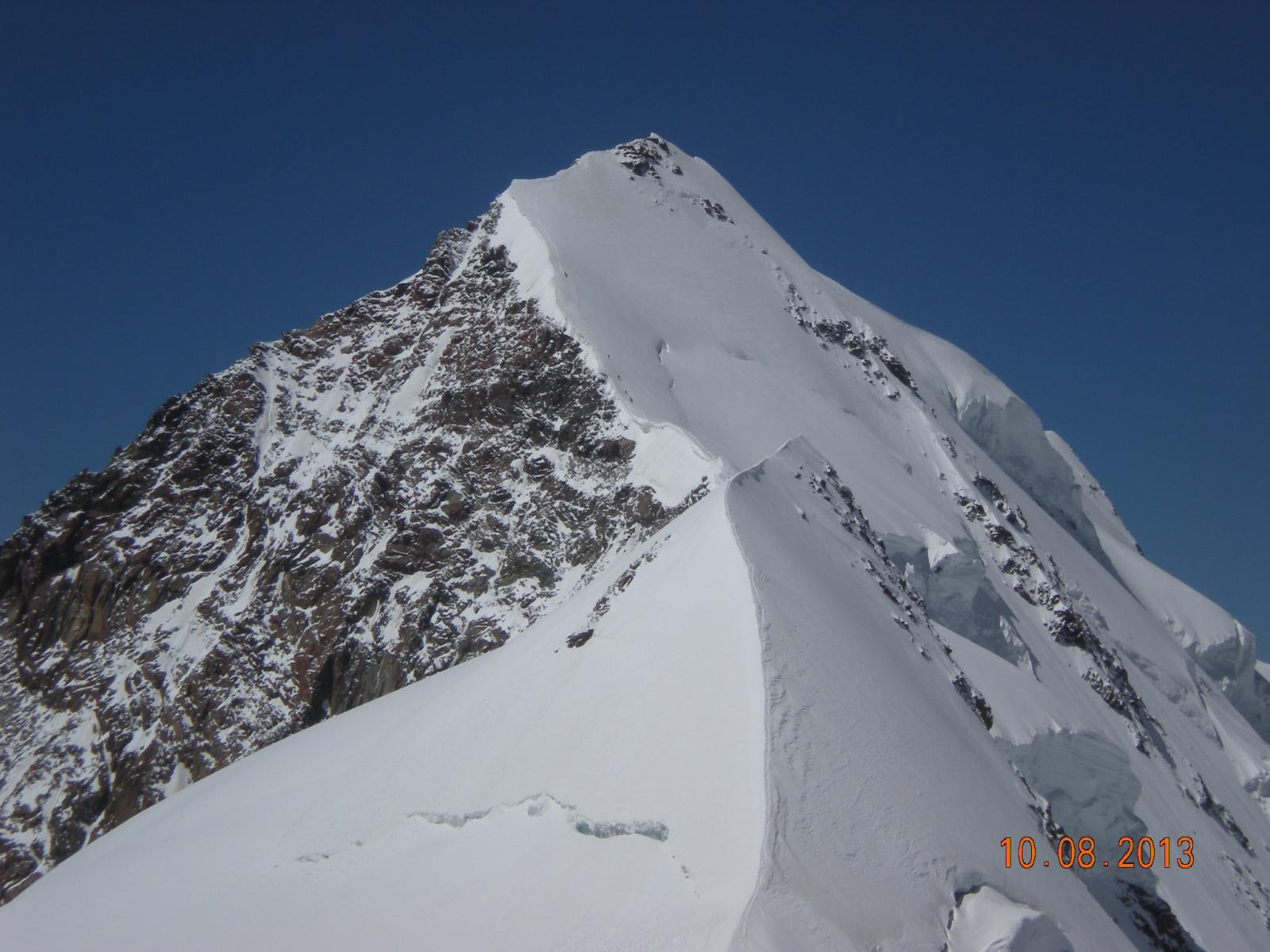 impressionante la cresta orientale del Lyscamm