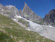 Aiguille Noire de Peuterey e ghiacciaio del Freney