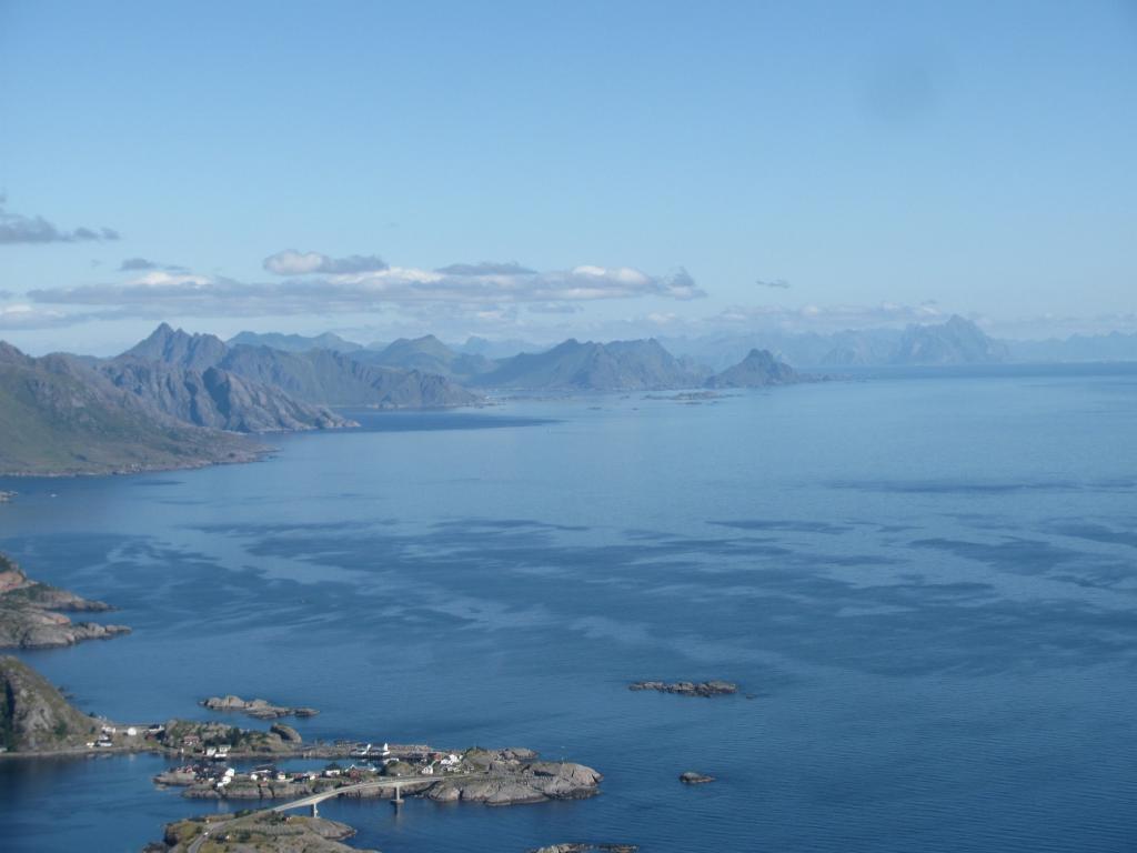 vista sulle Lofoten verso nord