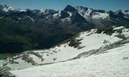 il ghiacciaio del Morion dall'alto