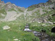 Il vallone da risalire per il colle Chavacour