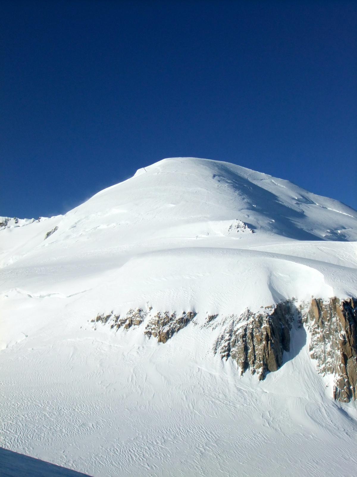 La cima del Bianco con sotto il Mur de la Còte