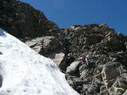 Condizioni del canalino per accedere al ghiacciaio