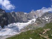 cresta e ghiacciaio del Bruillard