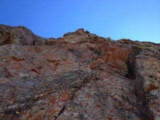Bella roccia rossa nel terzo tiro