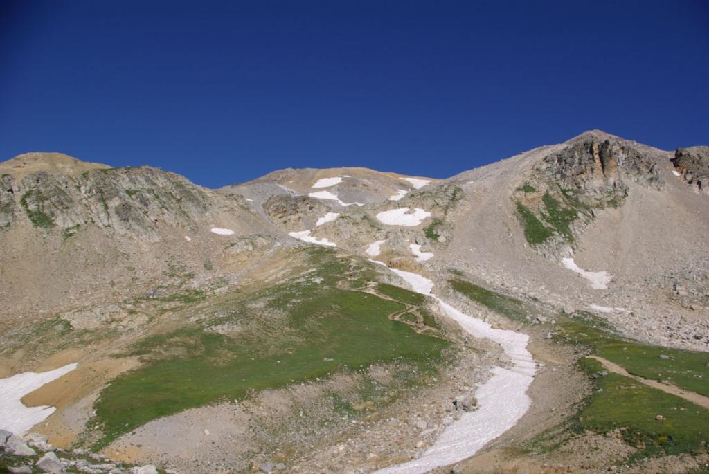 La parte più dura, dal trivio con il sentiero per il rif Thabor