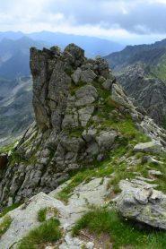 punto della cresta dove scendere per raggiungere la Balma del Pastore