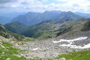 al centro della foto il laghetto da tenere come riferimento per la discesa
