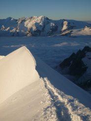 la bella cresta nevosa Schneegrat