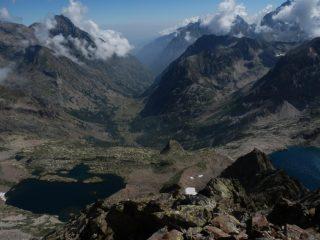 dalla vetta della Testa del Claus, vista sui laghi Claus e Portette