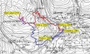 mappa dell'itinerario