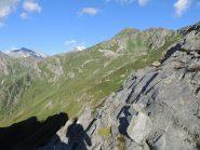 Il Pizzo Straciugo dalla bocchetta a 2180 m