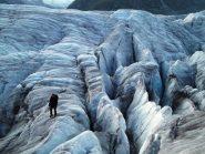 parte bassa e comoda del ghiacciaio iniziale