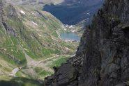 Il Lago al Colle del GS Bernardo visto dalla vetta, con il sentiero sui lati Nord-Ovest