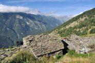 panorama verso il Pelvo d'Elva dalle Grange Cruset