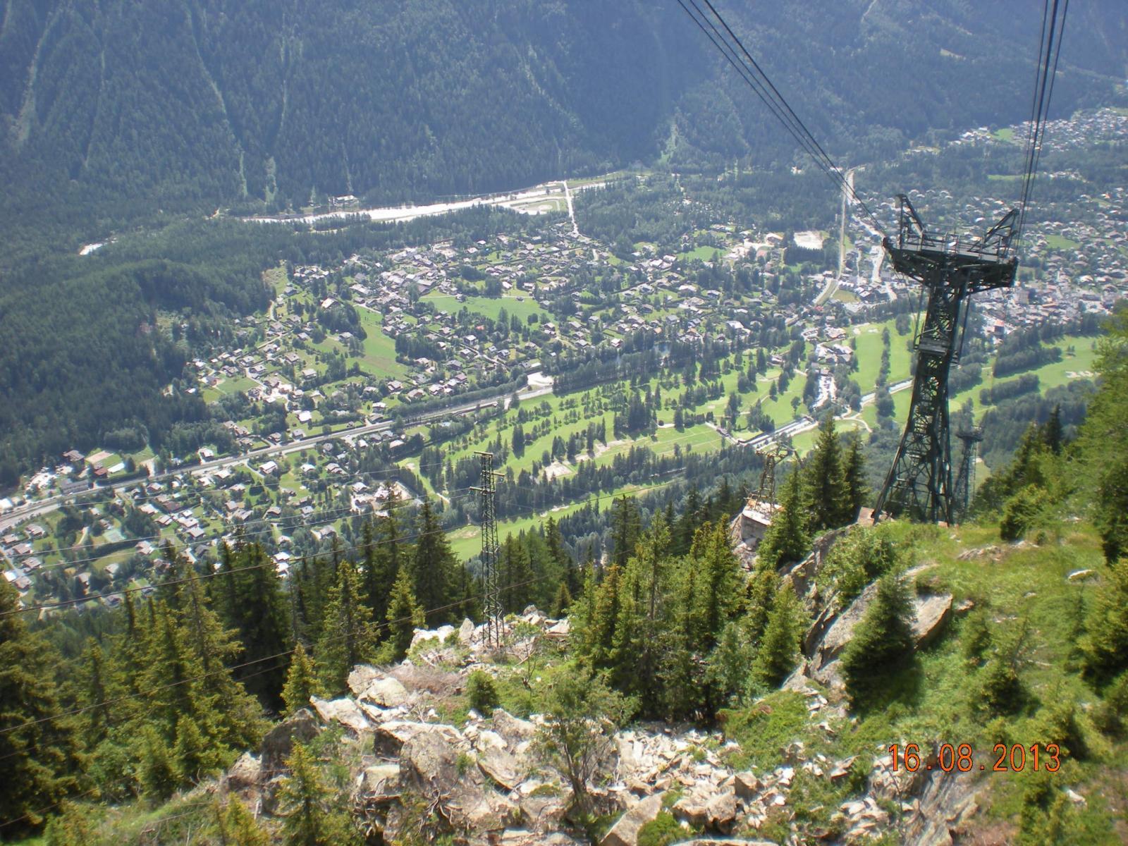e si scende verso Chamonix con la funivia
