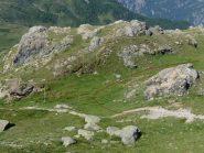 raccordo tra il sentiero da Cheneil e quello del Monte Roisetta