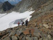 In discesa verso il ghiacciaio