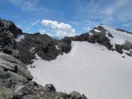 La Becca Bianca vista dalla cresta per il Paramont