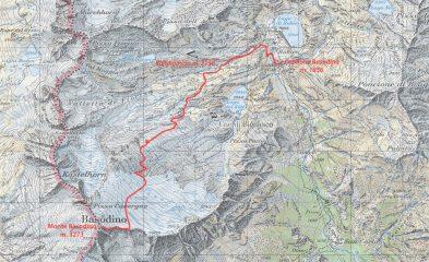 mappa CNS e via di salita seguita