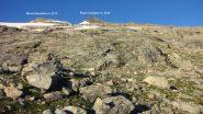 la placconata che si deve risalire per raggiungere il ghiacciaio (17-8-2013)