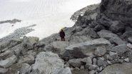 Enrico in discesa lungo la cresta (17-8-2013)
