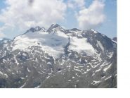 Il ghiacciaio dello Chateau Blanc..