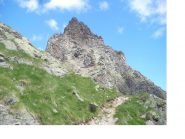 La Becca Tailla' versante di discesa, dai pressi del Col Crosatie..