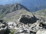 Vista sul Passo dell'Alpuggio e la Punta della Rossa
