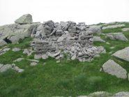 I resti della baita di Terrin Vecchio