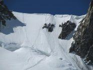 Salita del Colle del Mont Maudit - vista al ritorno