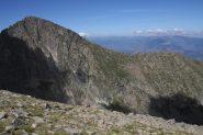 Cresta percorso in discesa verso il Pic du Joffre