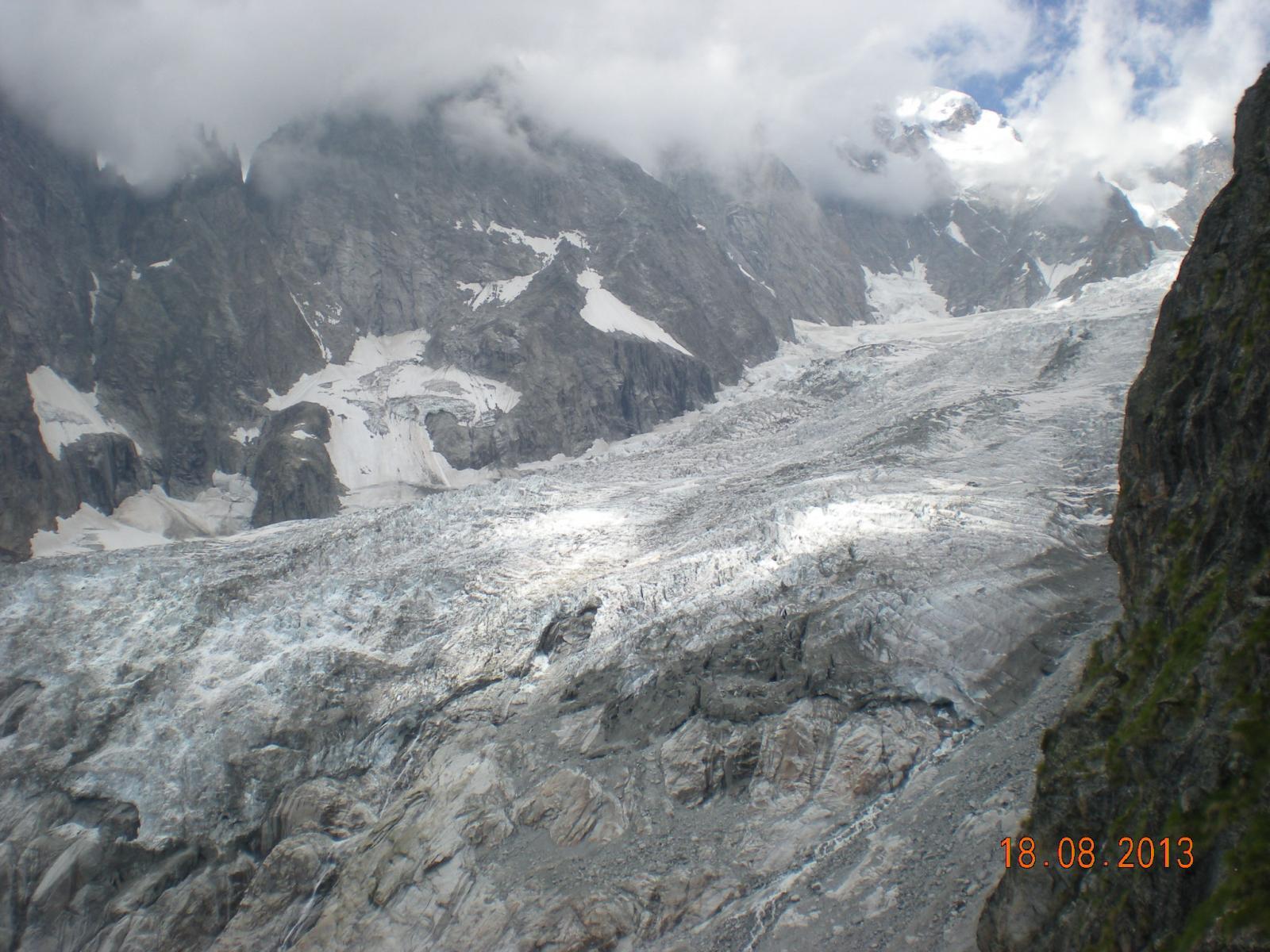 lo spettacolo del ghiacciaio della Brenva