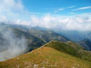 la cresta verso la val Corsaglia