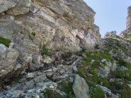 Passaggio attrezzato sul lato di Antabbia della Bocchetta