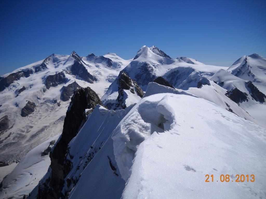 vista panoramica dal Breithorn centrale