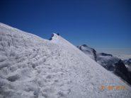 la cresta del breithorn centrale